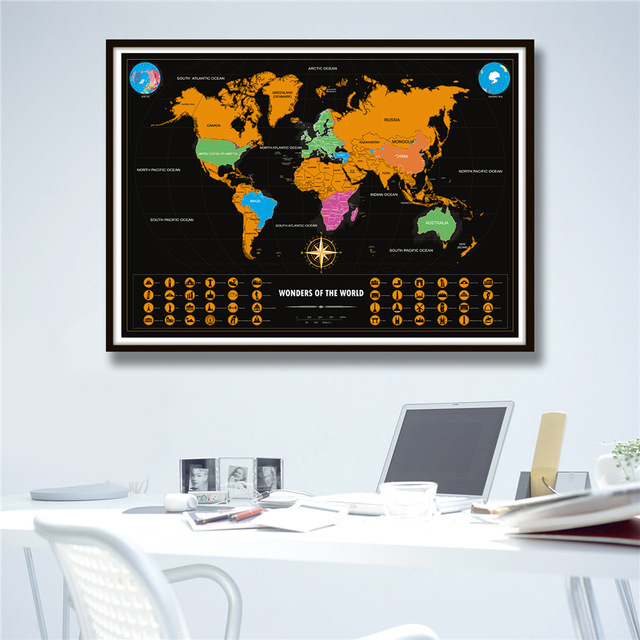 Hot sale vintage travel map black gold personalized world scratched hot sale vintage travel map black gold personalized world scratched map home decor reteo wall sticker gumiabroncs Image collections