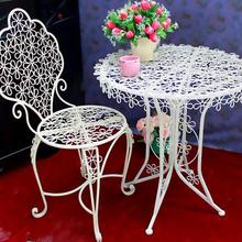 Iron art plum blossom coffee chair, dining chair bar outdoor table and chair