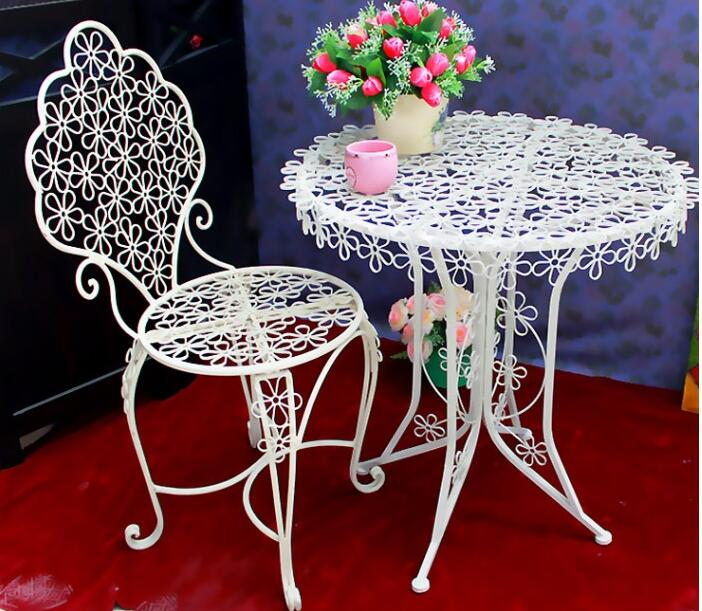 Iron art plum blossom coffee chair, dining chair bar outdoor table and chair цены онлайн
