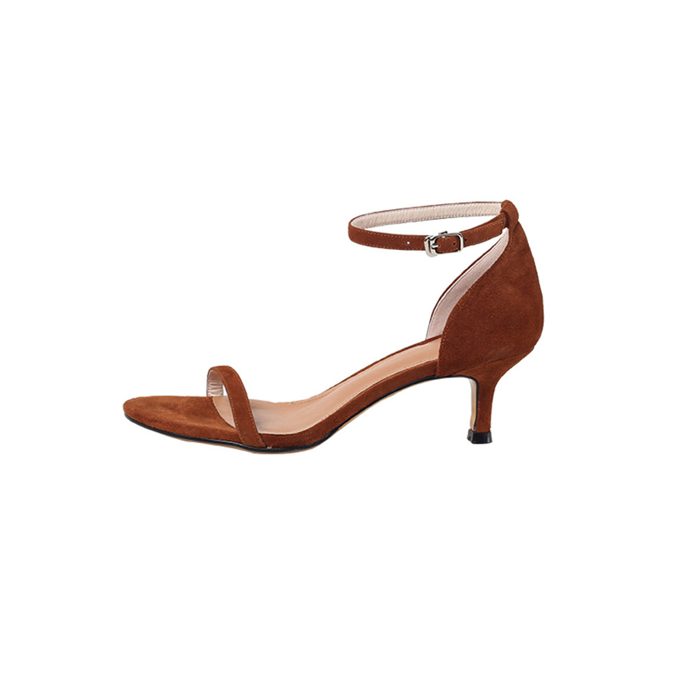 Catering Pelle scamosciata alti Asumer Summer rosso 2018 Fashion Tacchi donna fibbia Nero Sandali donna Confortevole marrone Scarpe semplice 1nqStPx