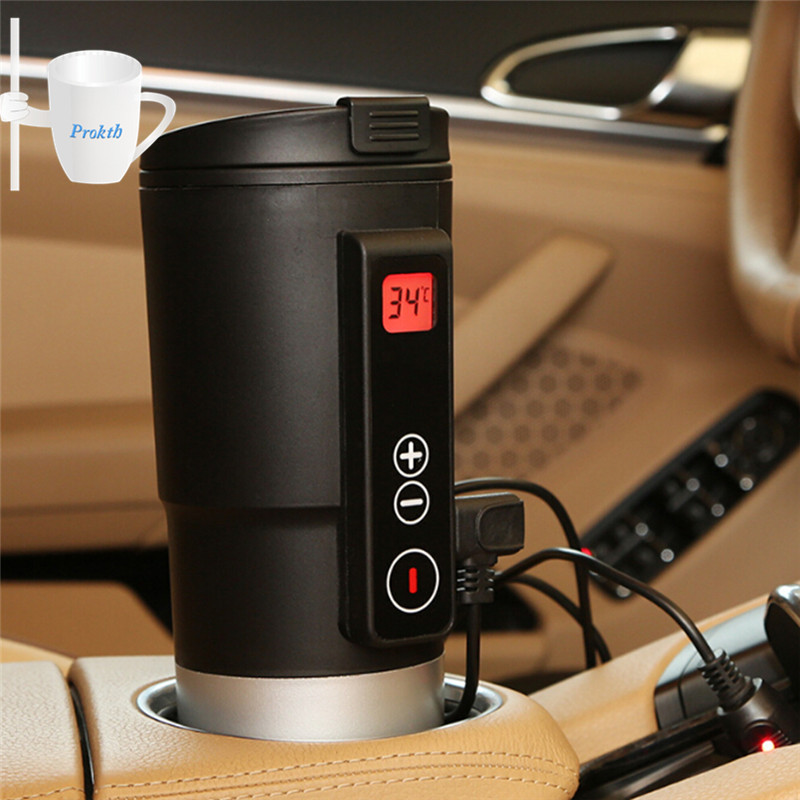 13oz 380 ml Smart Temperature Control Cup Coffee Tea Milk Electric Heating Cup keep the temperature For Car Camping travel