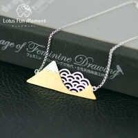 Lotus Fun Moment réel 925 argent Sterling fait à la main bijoux de mode poétique nuage montagne Collier avec pendentif pour les femmes Collier