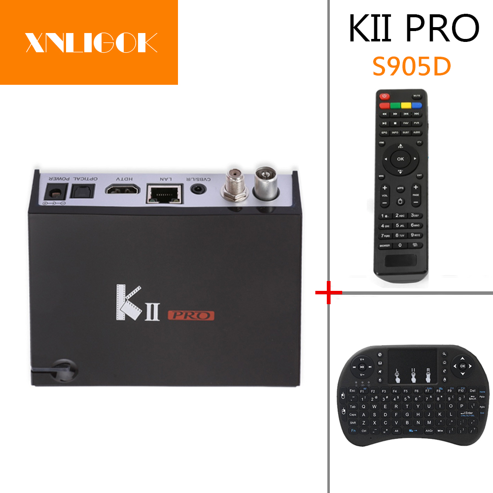 MECOOL KII Pro DVB S2 DVB T2 Android 5.1 TV Box Amlogic S905 D Quad-core BT4.0 2GB/16GB k1 dvb s2 android 4 4 2 amlogic s805 quad core tv box