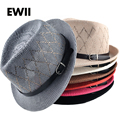 2017 sombreros de verano de moda para las mujeres Unisex sun cap hombres playa Panamá sombrero de paja transpirable chapeu feminino hueso