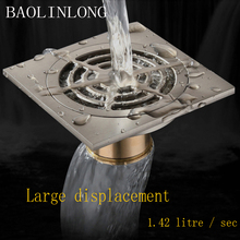 BAOLINLONG Brass Floor Drain Exquisite Washing machine floor drain Panel Multiple beautiful Super Drainage uses