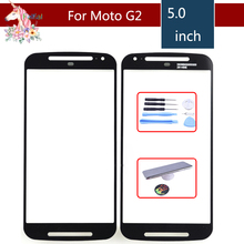 Super Quality For Motorola Moto G2 G+1 XT1063 XT1069 XT1068 Touch Screen Front Outer Glass Panel Lens NO LCD Display Digitizer 5pcs original lcd digitizer with frame replacement for motorola moto g2 xt1063 xt1068 xt1069 display with touch screen assembly