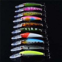 Hot 20pcs/Lot Fishing Lure Set Mixed 2 Model Minnow Lures   Artificial Make High Quality Bass Fish Fishing Tackle