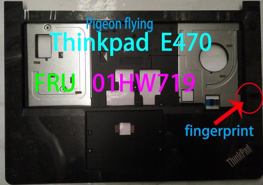 Aplicar para Thinkpad E470 E475 laptop palm rest/fronteira Teclado para C casca preta FRU 01HW719 01HW720 impressão digital e não -fingerprin