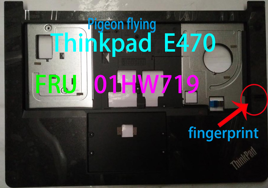 Apply To Thinkpad E470 E475 Laptop Palm Rest/Keyboard Border For C Shell Black FRU 01HW719 01HW720 Fingerprint And No-fingerprin