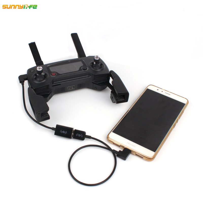 Sunnylife DJI font b Mavic b font Remote Controller Discharger Energy Conversion Line Charging Wire USB