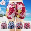 Alimoo 2016 Summer Lady Shorts All-match Elastic Mid-waist Flare Women Casual Home Shorts With Big Yards