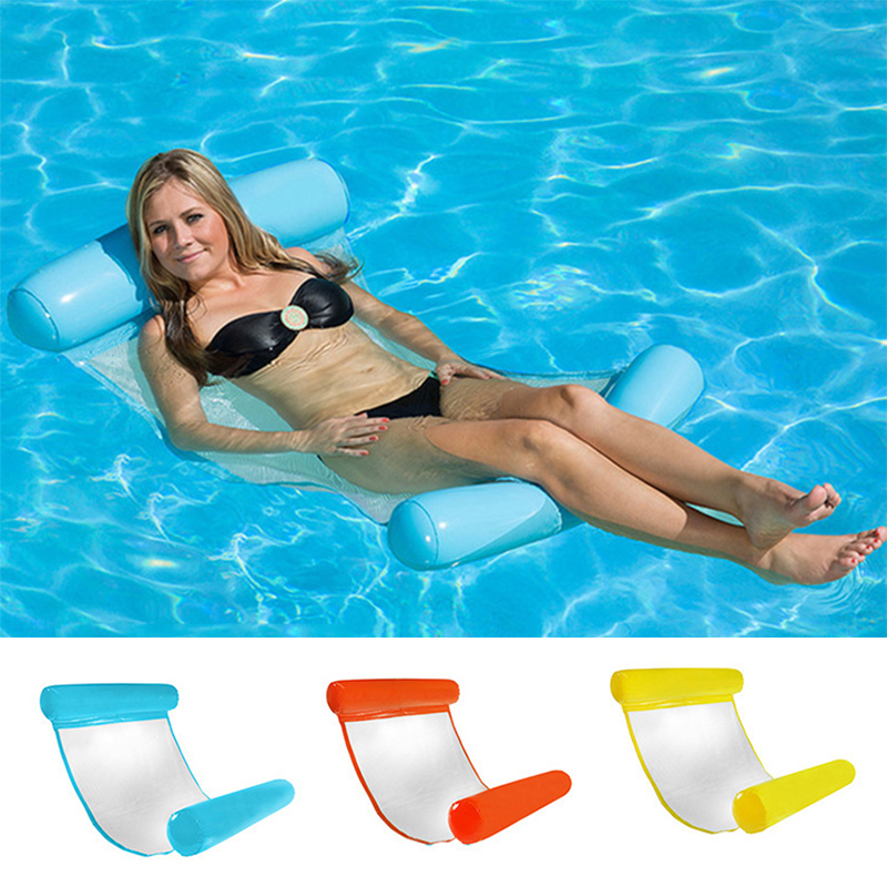 Folding Lounge Chair Floating Inflatable Water Swimming Toy For Adult Pool Rafts Sofa Swimming Inflatable Tools