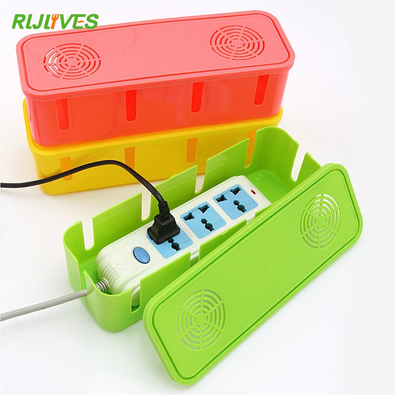 Outlet-Board-Case Cord-Socket Storage-Boxes Power-Strip Cable-Manager Heat-Emission-Hole-Container