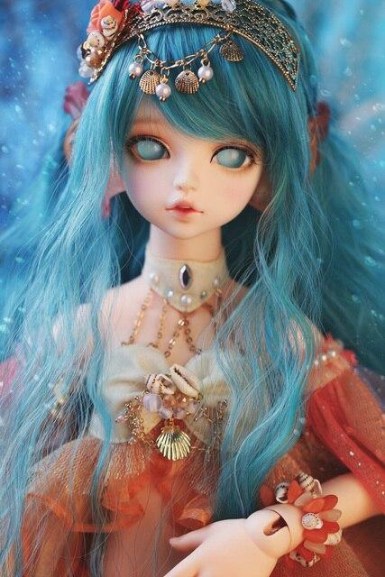 New Arrival 1/4 BJD Doll BJD/SD Fashion Cute Serin Rico Fish Mermaid Resin Doll For Baby Girl Birthday Gift  2