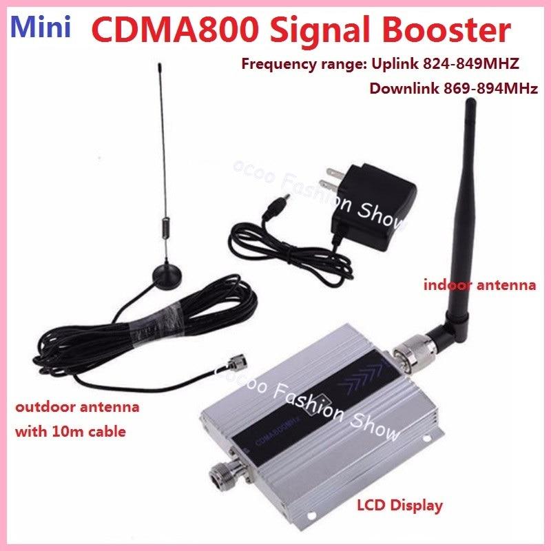 Amplificateur de répéteur cellulaire 3g GSM CDMA FDD 850 MHZ amplificateur de répéteur de Signal de téléphone portable amplificateur répétiteur + antenne
