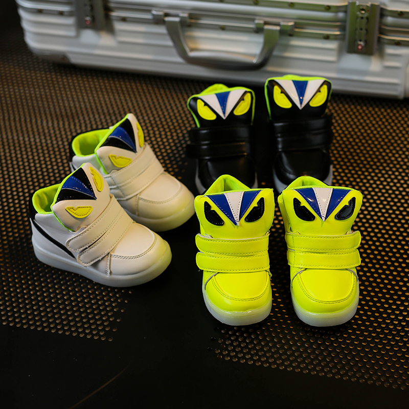Children-Shoes-With-Light-Chaussure-Led-Enfant-Spring-Autumn-New-Cartoon-Led-Girls-Shoes-Sports-Breathable-Boys-Sneakers-Shoes-4