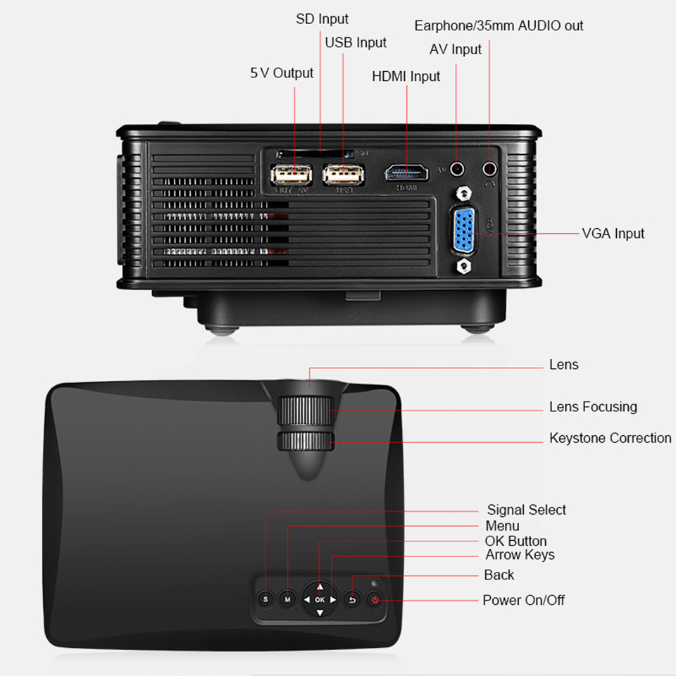 SD60 Portable LCD WIFI Projector-8