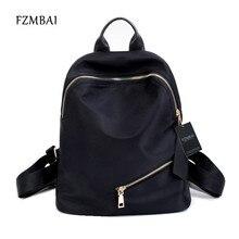 Fzmbai модные черные путешествия рюкзак школьный стиль женские Водонепроницаемый нейлон двойной плечо сумки для студентов колледжа