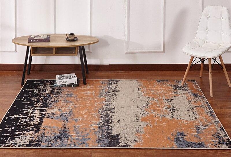 Grand tapis salon chambre simple moderne canapé table basse couverture rectangulaire maison européenne tatami repas boutique Ultra-mince