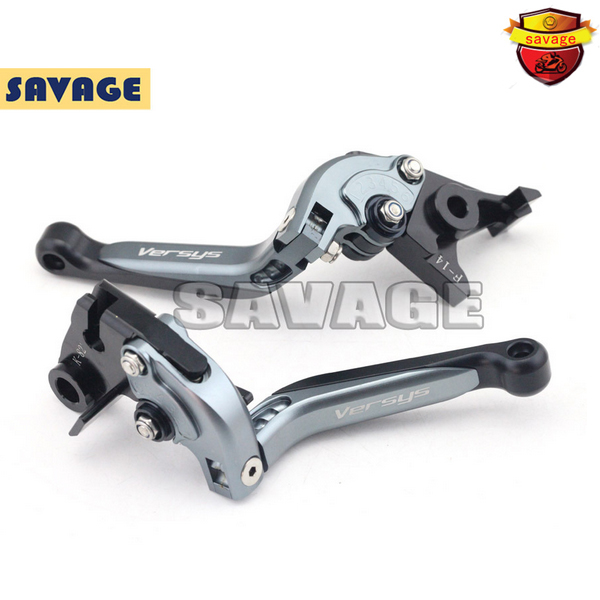 ФОТО For KAWASAKI KLE 650 Versys 2009-2013 Motorcycle Accessories CNC Folding Extendable Brake Clutch Levers Titanium+Black