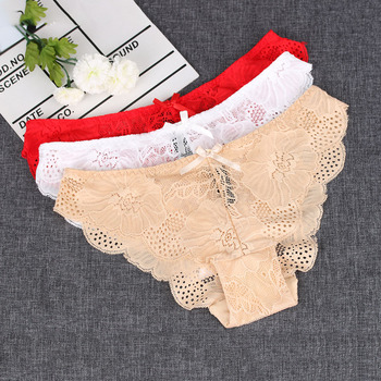 1 PC Fashion Women Sexy Soft Hollow Underpants Intimates Ultra Thin Lace Briefs Panties Low Waist Kinckers