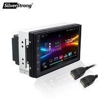 SilverStrong 2Din универсальный 7 ''Android9.1 Автомобильный gps Радио Аудио Кассета автомобиля мультимедиа с wifi BT mic карта для подарка