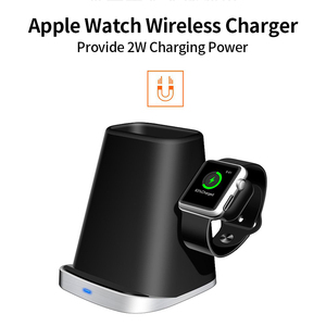 Image 4 - Fast Charge Wireless Charger Stand For Iphone XS XR 11 3 In 1 Wireless Charger Dock Station For Apple Watch Airpods Stand