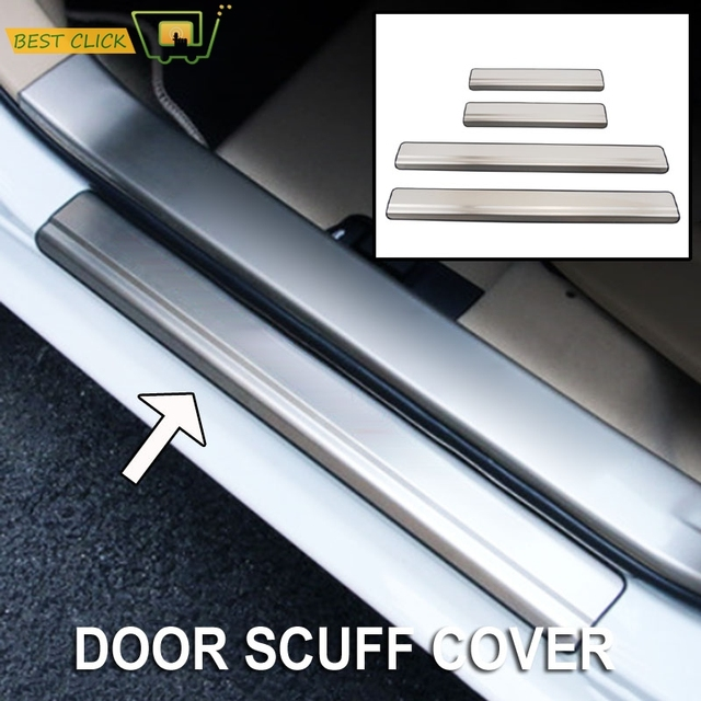 4X For Toyota Corolla Altis 2014 2015 2016 2017 Stainless Steel Door Sill Panel Scuff Plate & 4X For Toyota Corolla Altis 2014 2015 2016 2017 Stainless Steel Door ...