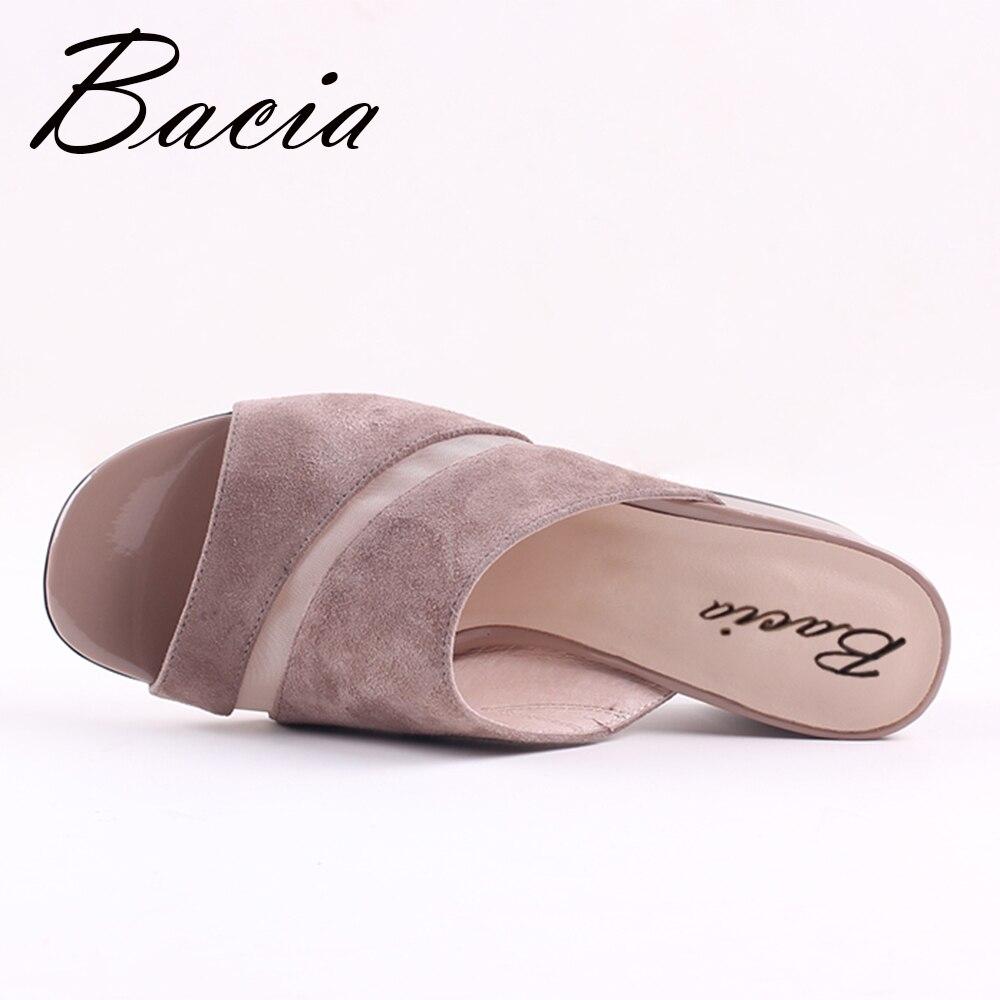 Scamosciata Pantofole Scarpe Bacia Genuino Vxb015 41 35 Modo Riband Pelle 2017 Cuoio Donne Pecora Formato Delle Sandali Di Estive wxXXPFpnRq