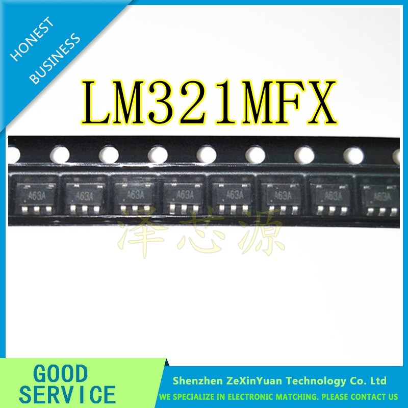 100PCS/LOT NEW LM321 LM321MFX A63A SOT23-5 LOW POWER OPERATIONAL AMPLIFIER