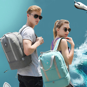 Image 5 - Luggage Travel Bag ouble Layer Design Duffel Storage Clothes Shoes Bag Bra Underwear Pouch Waterproof Portable Storage Zip Pouch