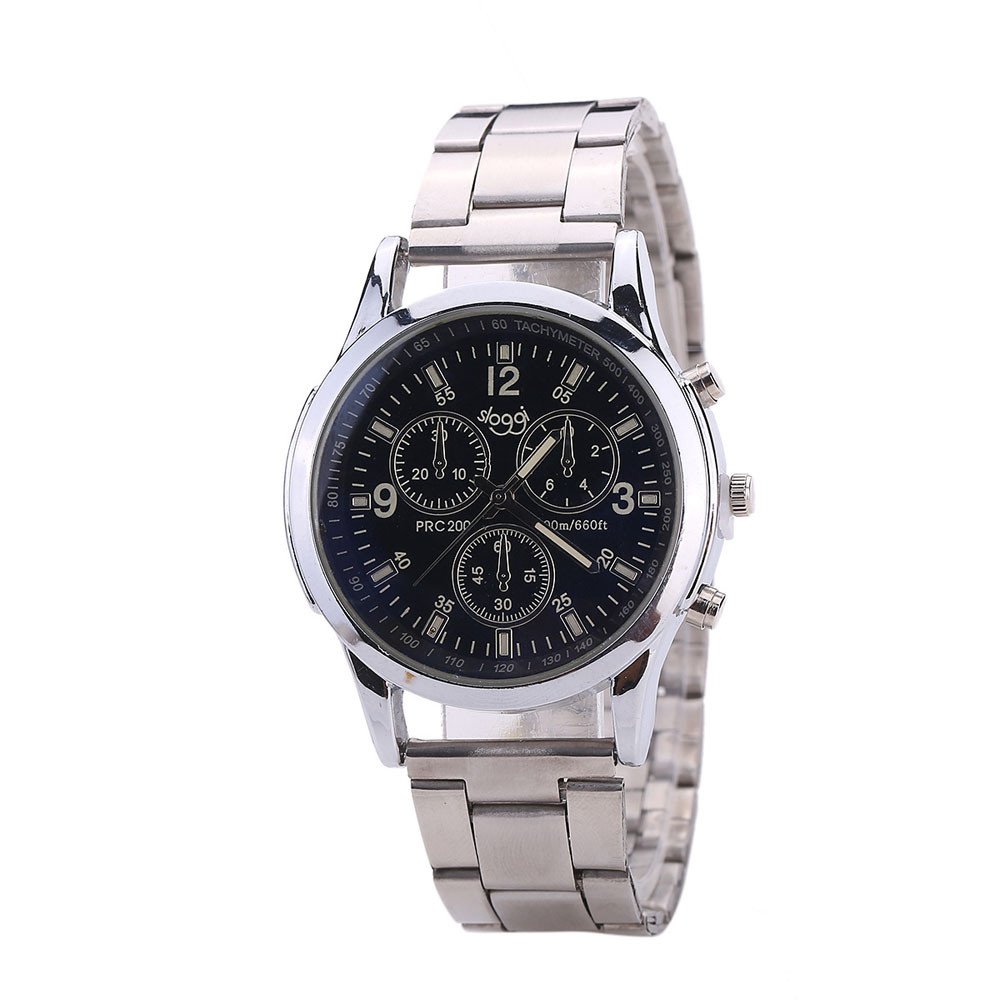 Reloj Hot Sale New  Men And Women General Business Quartz Watch Stainless Steel Strap wholesale  Dec8