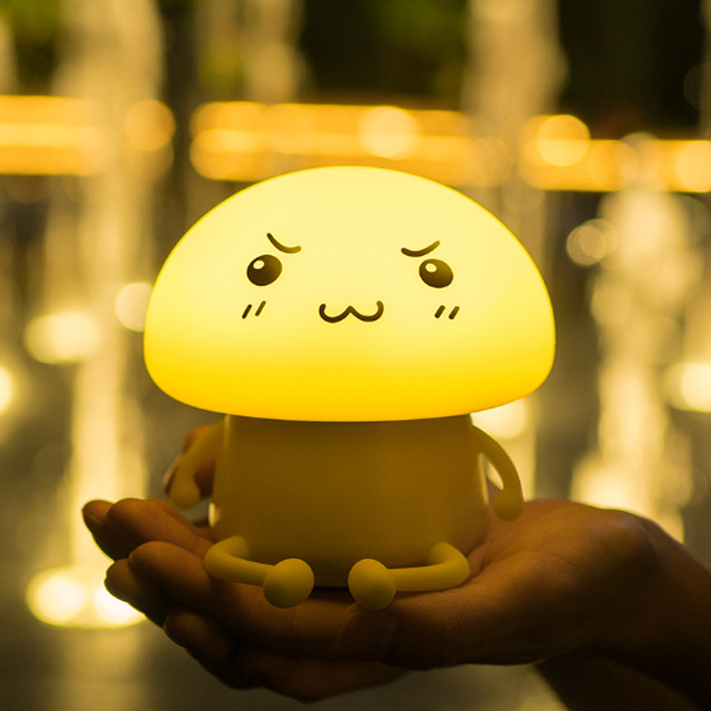LED Night Light Mushroom Lights Lamp for Bedroom Home Decoration Controlled Sensor Feeding lighting Subsidy Tool