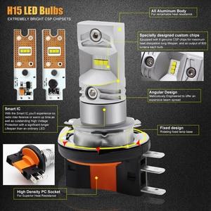 Image 3 - 2pcs H15 LED אוטומטי ערפל מנורת 30W CSP 1919 שבב SMD LED גבוהה כוח לבן 6000K נורות עבור רכב אוטומטי חיצוני ערפל אור פנס מנורה
