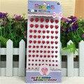 Красный жемчуг в форме сердца горный хрусталь наклейки кристалл мобильный телефон персонализированные Diy наклейки скрапбукинга акриловая пропуск декор наклейки