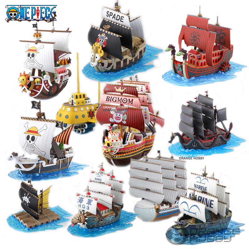 OHS Bandai OP Grand Ship Collection Thousand Sunny Trafalgar Laws Submarine Going Merry Etc. Assembly Plastic Model Kits Oh