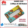 Cheapest Original Unlock HSDPA 7.2Mbps HUAWEI E153 3G USB Modem With Sim Card Slot Support 850,1900,900,2100MHZ