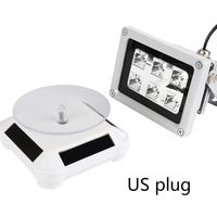 60W UV Resin Solidify Photosensitive Curing Light Solar Powered Rotary Display Stand Turntable Kit for SLA DLP 3D Printer Parts