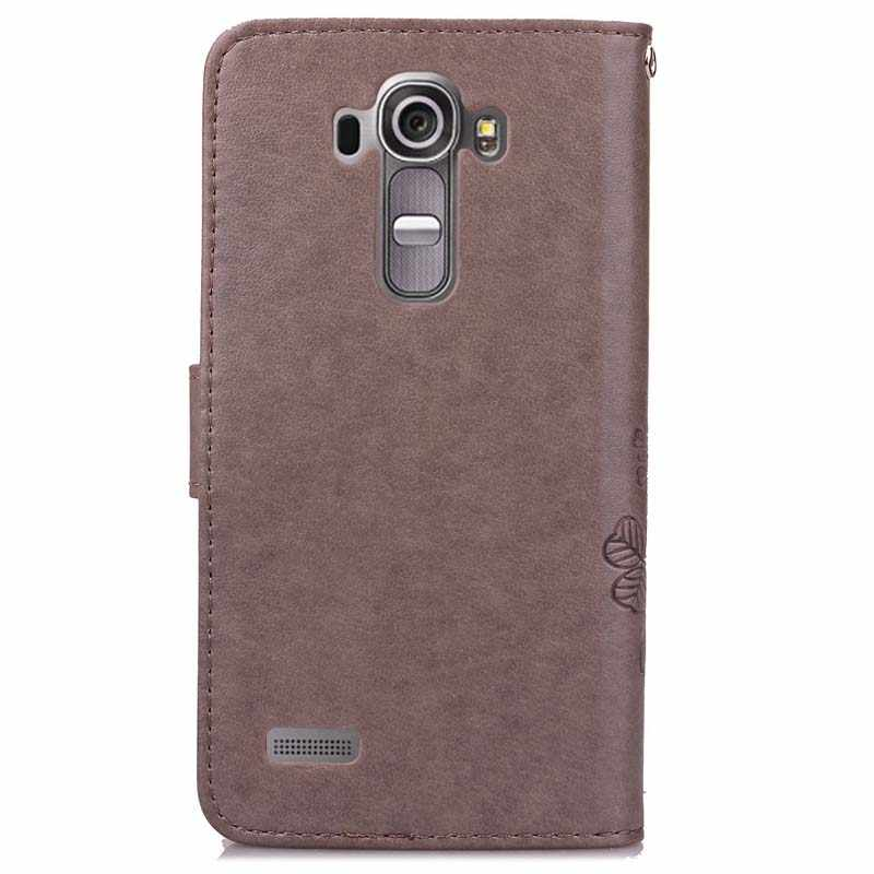 best service ec1f2 f0b03 For Coque LG G4 LGG4 Case Wallet Flip Leather Cover For LG G4 H815 H818  Silicone Phone cases Protector Shell with Card holder