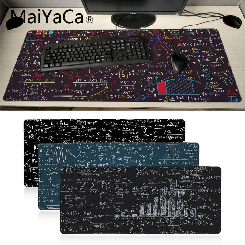 Maiyaca Geometric Math Formula Gamer Play Mats Mousepad Gaming Mouse Pad Xl Speed Keyboard Mouse Mat Laptop PC Notebook Desk Pad