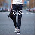 2016 slim fit pants men Unique Pocket Mens Joggers Pants Sweatpants casual Harem Pants Men striped Pants Pantalones Hombre homme