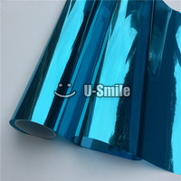 VLT 15% Blue Silver Mirror Window Vinyl Film For Glass Tint Buliding Home Office Size:1.52*30m/Roll
