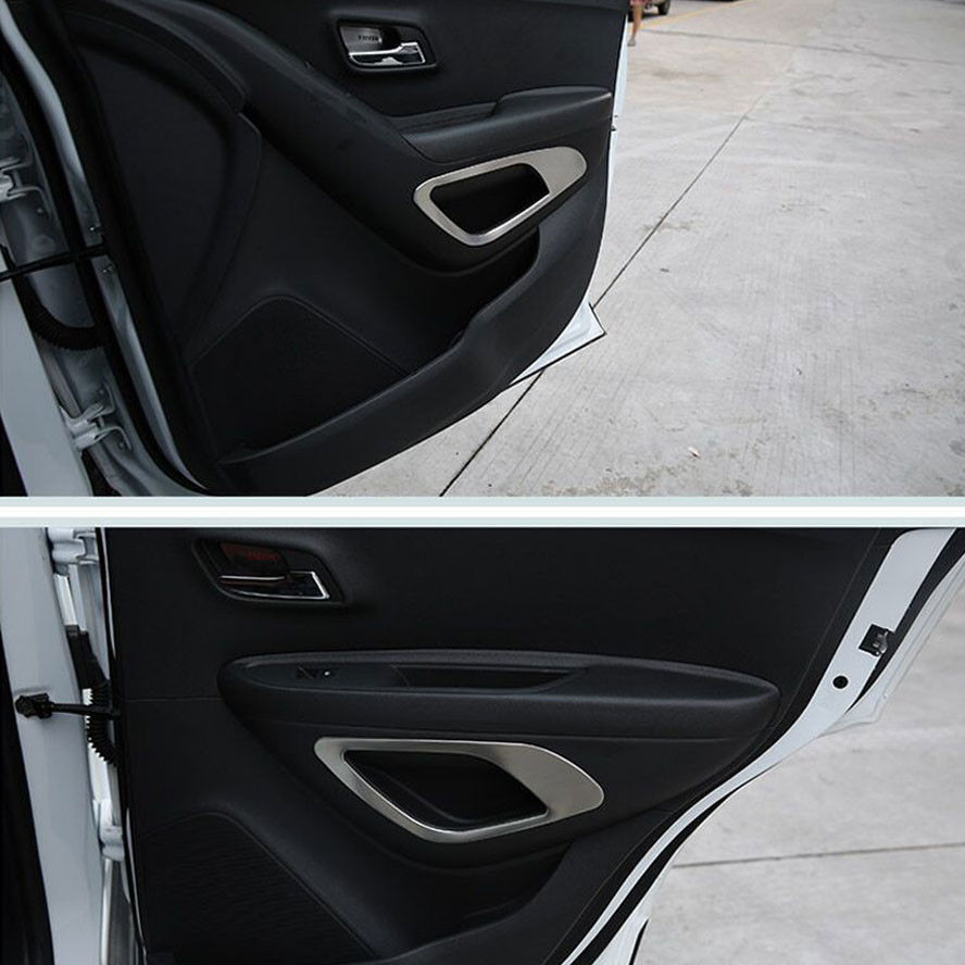 Car Styling Door Storage Box Cover Trim Decorative Frame Sticker For Chevrolet Trax 2014 2015 2016 Interior Car Accessories