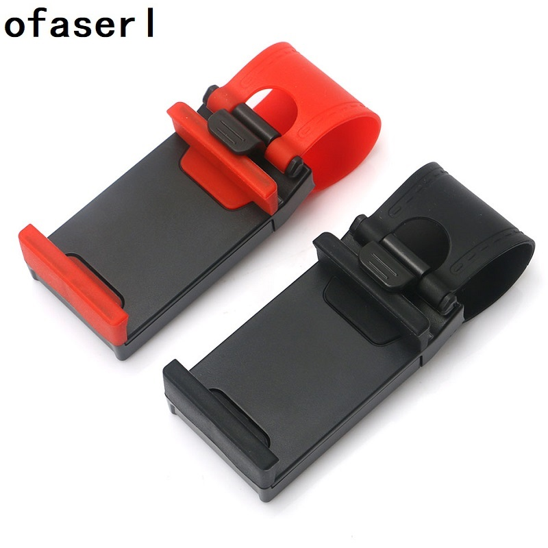 Ofaserl Universal Car Steering Wheel Clip Mount Holder for iPhone 8 7 7Plus 6 6s Samsung X