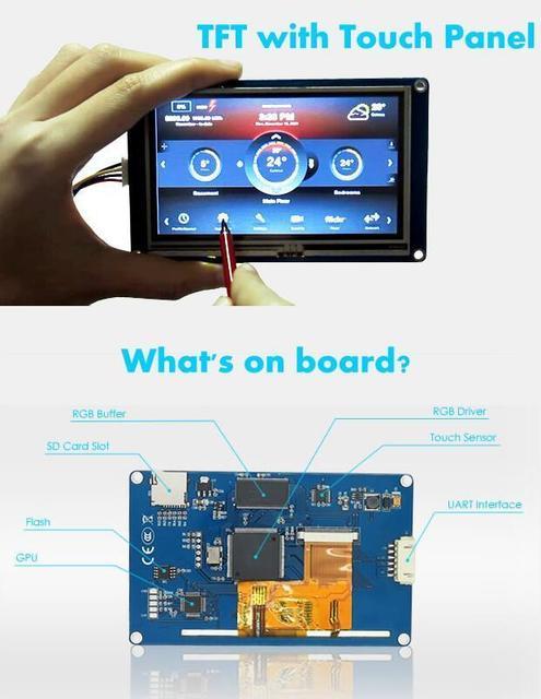 """2.4 """"polegadas Nextion HMI Tela de Toque TFT Lcd Módulo Serial Cartão SD for_Arduino uno r3 Raspberry Pi 3 2 B +"""