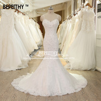 Sexy Open Back Mermaid Wedding Dress Casamento Spaghetti Straps Vestidos De Novia New Arrival Bridal Gowns