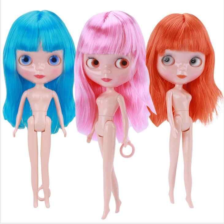 Frete grátis barato rbl NO.1-7 diy blyth nu boneca presente de aniversário para meninas 4 cor grandes olhos bonecas com bonito cabelo bonito brinquedo