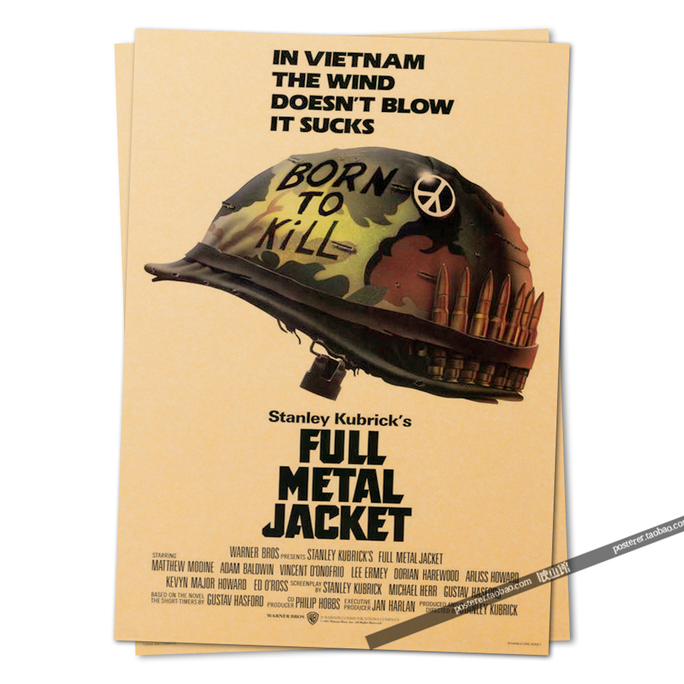 full metal jacket movie poster 1987 Vintage Retro Adornment Poster ...
