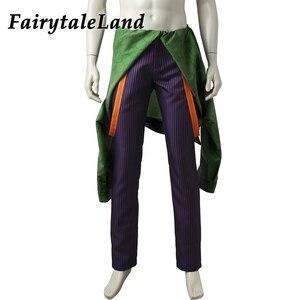 Image 3 - Injustice 2 Джокер Косплей Костюм на заказ Хэллоуин костюмы для взрослых мужчин причудливый клоун костюм фиолетовое зимнее пальто