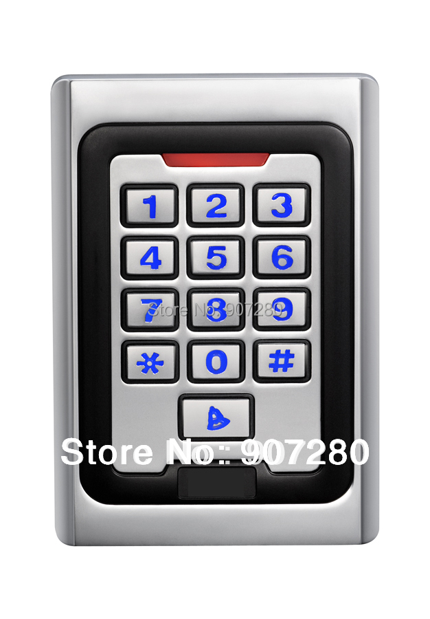 New Arrival Metal Case Anti-Vandal 125KHz RFID Keypad Access Control (wiegand 26 input & output) wiegand 26 input
